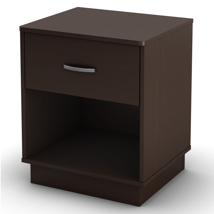 Logik Contemporary Nightstand in Chocolate