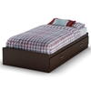 Logik Chocolate Twin Mate's Bed with 2 Drawers