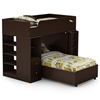 Logik Twin Loft Bedroom Set in Chocolate
