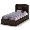 Logik Chocolate Twin Bookcase Bed