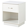 Logik Single Drawer Nightstand in White