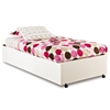 Logik White Twin Size Bed on Casters