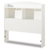 Logik White Twin Size Storage Headboard