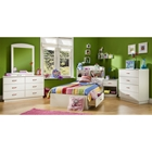 Logik White Twin Mates 4 Piece Bedroom Set