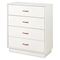 Logik White Chest with 4 Drawers - SS-3360034
