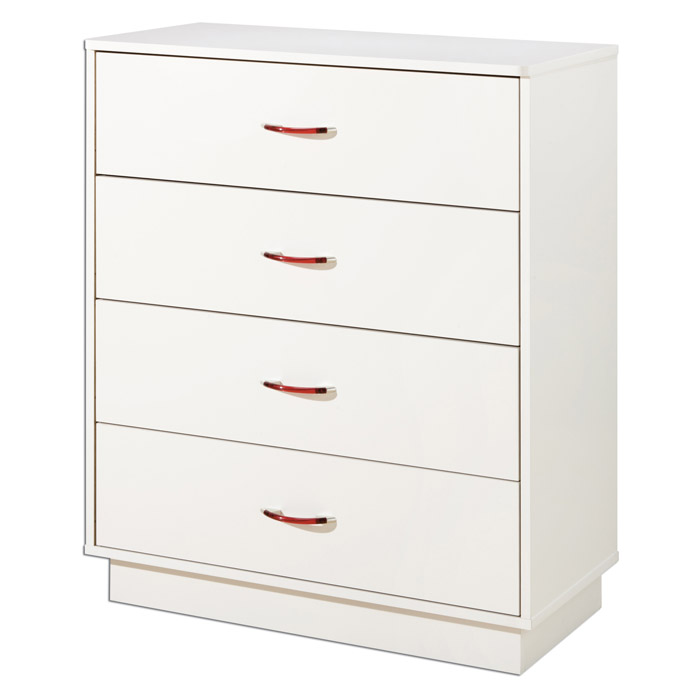 Logik White Chest with 4 Drawers
