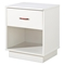 Logik Single Drawer Nightstand in White - SS-3360062