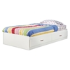 Logik White Twin Mate's Bed with 2 Drawers