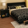 Holland Pure Black Platform Storage Bedroom Set