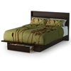 Holland Mocha Platform Storage Bed with Headboard