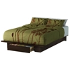 Holland Mocha Platform Bed with Storage Underneath
