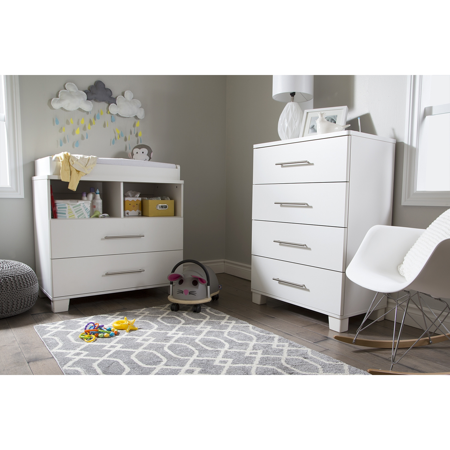 Cuddly Chest - 4 Drawers, Pure White - SS-3480034