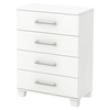 Cuddly Chest - 4 Drawers, Pure White