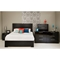 Mikka Queen Platform Bed - Black Oak - SS-3541A1