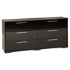 Mikka 6 Drawers Double Dresser - Black Oak