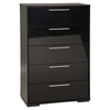 Mikka 5 Drawers Chest - Black Oak
