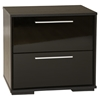 Mikka 2 Drawers Nightstand - Black Oak