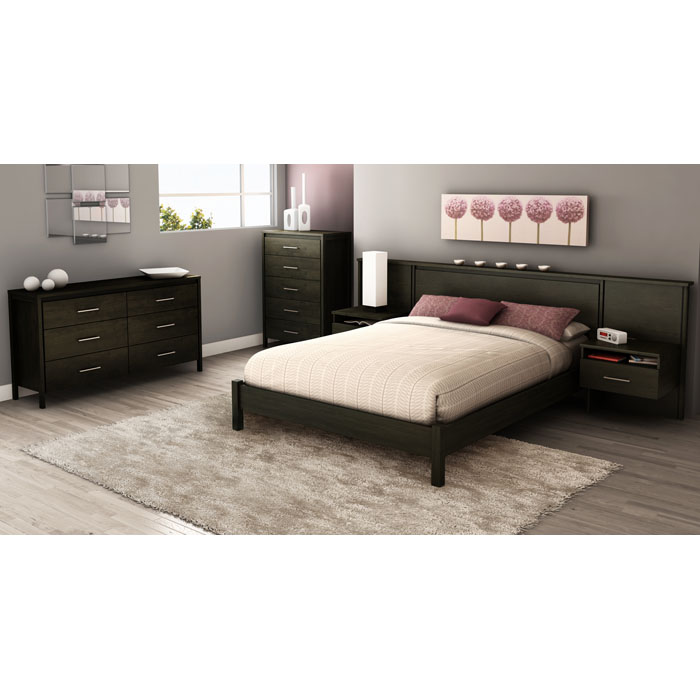 Gravity Ebony 4 Piece Queen Bedroom Set - SS-3577203-3577069-4PC