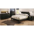 Gravity Modern Queen Bedroom Set in Ebony