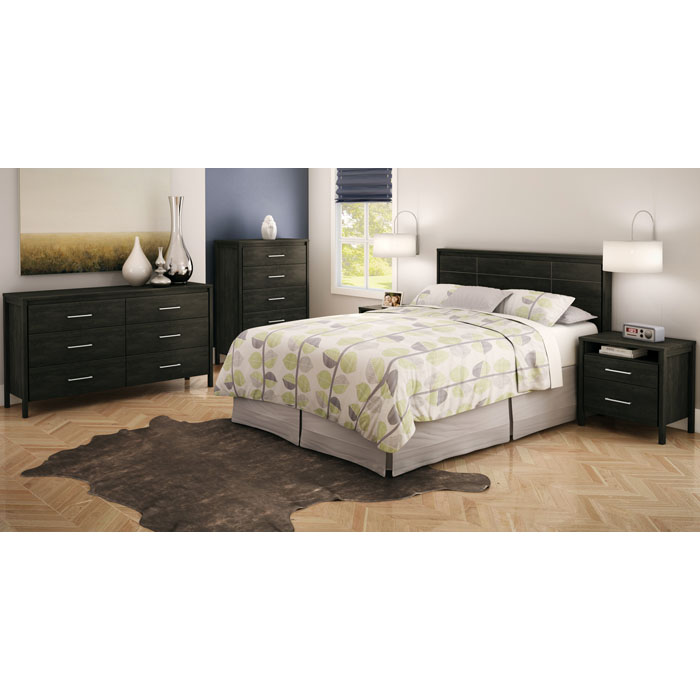 Gravity 2-Drawer Nightstand with Open Shelf - SS-3577060