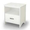 Tiara Modern White Nightstand with One Drawer