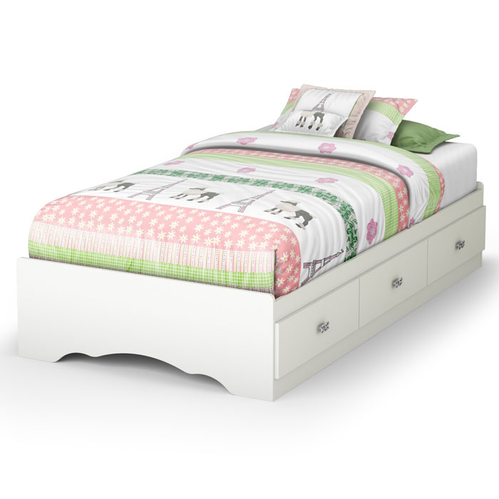 Tiara Twin Size Mate's Bed in White