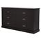 Gloria Double Dresser - 6 Drawers, Chocolate - SS-3659010