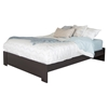 Gloria Queen Platform Bed - Chocolate