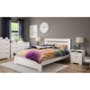 Reevo Queen Platform Bedroom Set - Pure White
