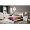 Reevo Queen Platform Bed - Pure White - SS-3840203