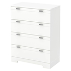 Reevo 4 Drawers Chest - Pure White