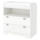 Reevo Changing Table - 2 Drawers, Pure White