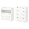 Reevo Changing Table and 4 Drawers Chest - Pure White