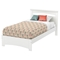 Libra Twin Bed - Pure White - SS-3860189
