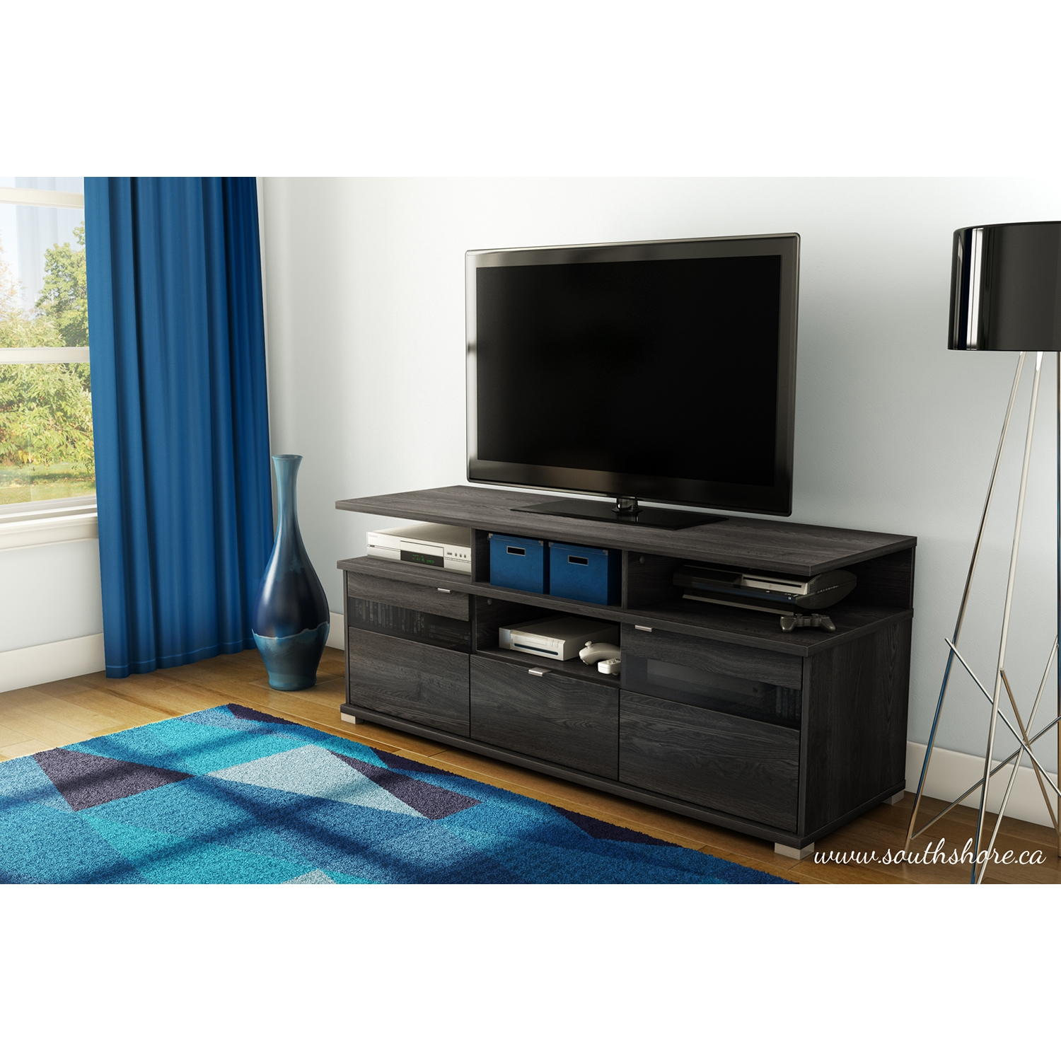 City Life II TV Stand - Gray Oak - SS-4137676