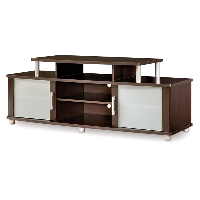 City Life TV Stand with Frosted Glass Doors - SS-4219601