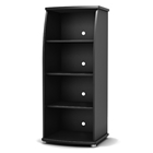 City Life Black Bookcase/Media Storage
