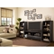 City Life 2-Drawer TV Stand in Black - SS-4270662
