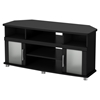 City Life Corner TV Stand - Pure Black