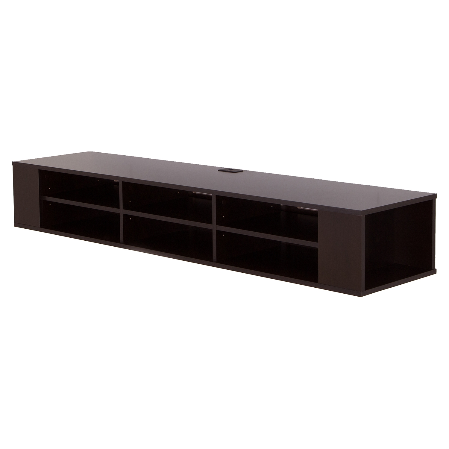 "City Life 66"" Wide Wall Mounted Media Console - Chocolate"