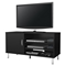 Renta TV Stand - 1 Door, 3 Shelves, Pure Black - SS-4507676