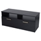 Jambory TV Stand - Storage Bins, Casters, Pure Black - SS-4907605