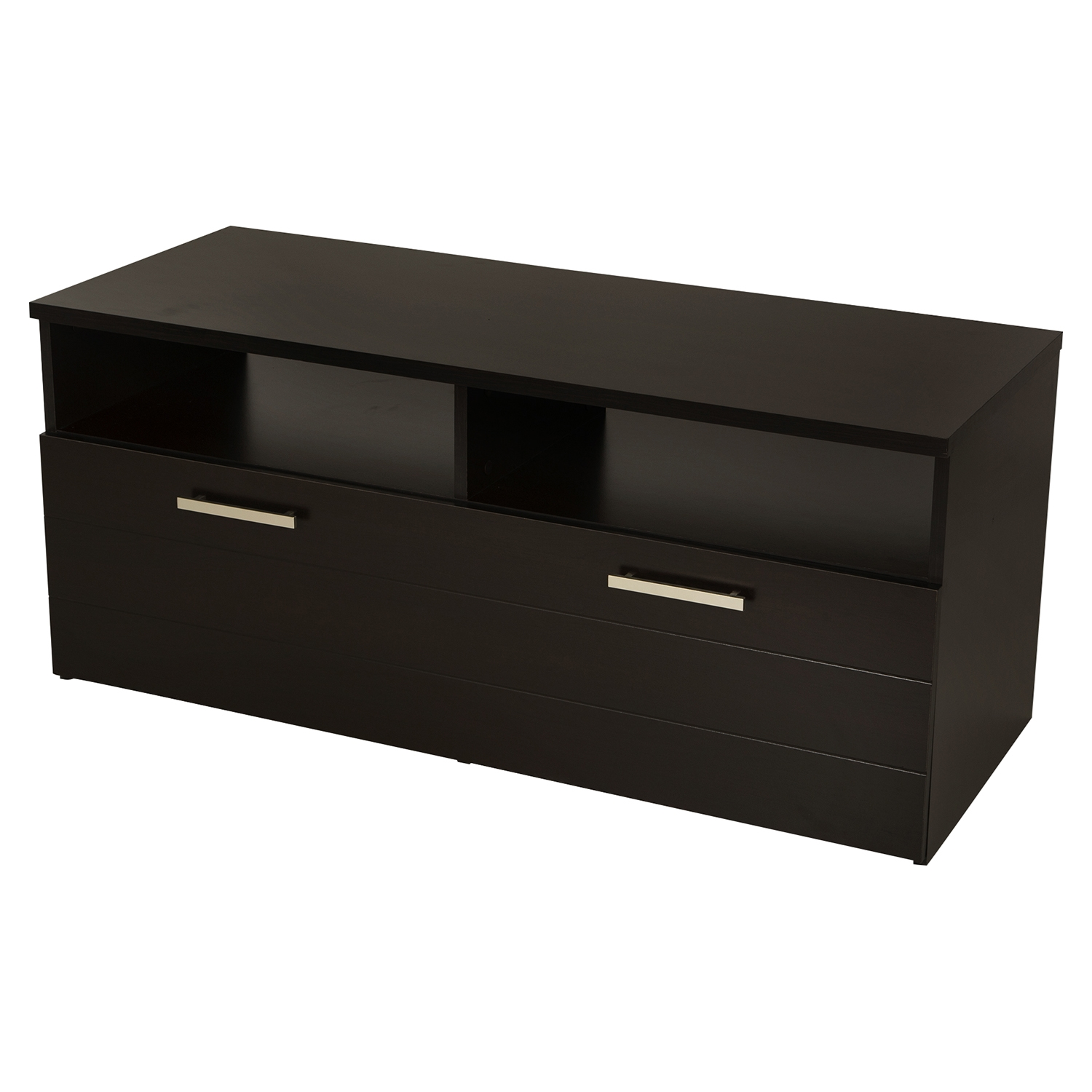 Jambory TV Stand - Storage Bins, Casters, Chocolate