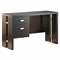 Element Chocolate Brown Desk with Metal Accents - SS-7219711
