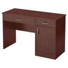 Axess Small Desk - 2 Drawers, 1 Door, Royal Cherry