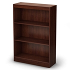 Axess 3-Shelf Bookcase in Royal Cherry