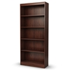 Axess 5-Shelf Bookcase in Royal Cherry