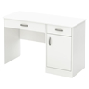 Axess Small Desk - 2 Drawers, 1 Door, Pure White