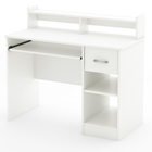 Axess Pure White Desk with Low Hutch