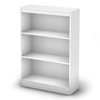 Axess White Bookcase with 3 Open Shelves